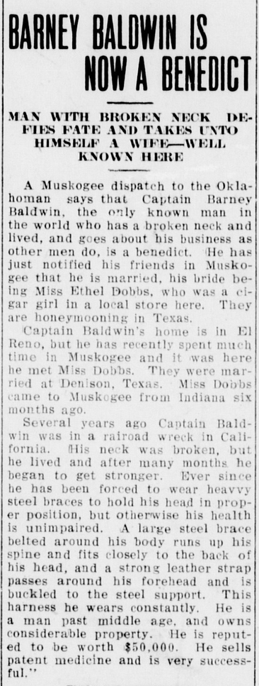 1910-nov-14-ethel-dobbs-marriage-el-reno-daily-american-el-reno-oklahoma