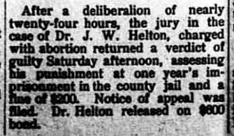 1913 Feb 20 HELTON James FOUND GUILTY The Butler Weekly Times