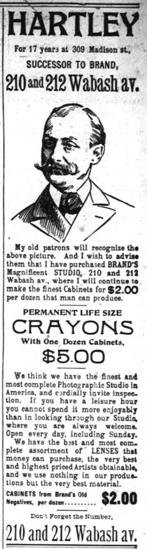 1894 Feb 4 NEW HARTLEY advert The Inter Ocean