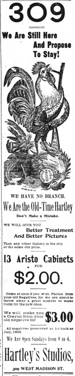 1894 Feb 4 OLD HARTLEY advert The Inter Ocean