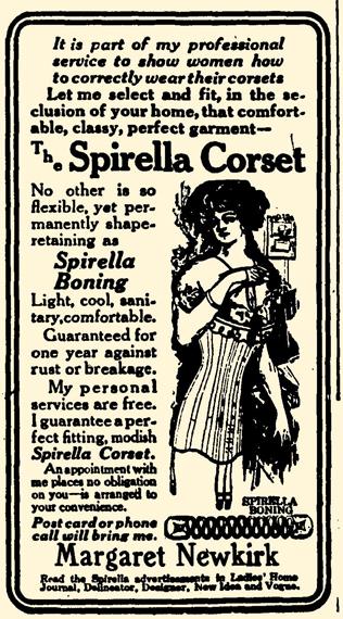 blog 1911 Dec 8 SPIRELLA CORSET AD Swayzee Press