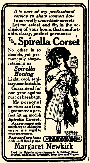 blog 1911 Dec 8 SPIRELLA CORSET AD Swayzee Press