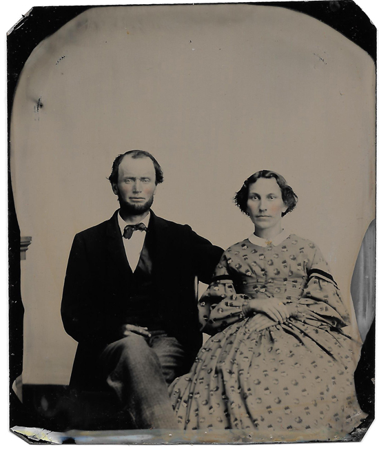 blog GILLISPIE James and wife NICHOLS Sarah CASED tintype