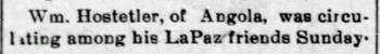 1896 Aug 21 HOSTETLER William LIVING IN ANGOLA The Bremen Enquirer Bremen IN