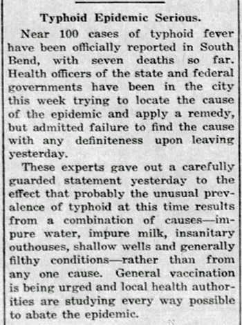 1917 Sep 20 TYPHOID EPIDEMIC Bremen Enquirer