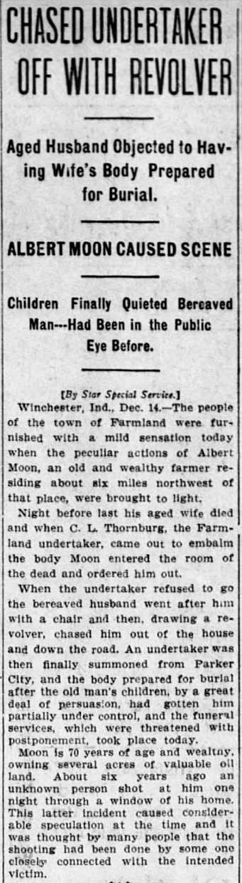 1905 Dec 15 THORNBURG chased off The Star Press Muncie IN