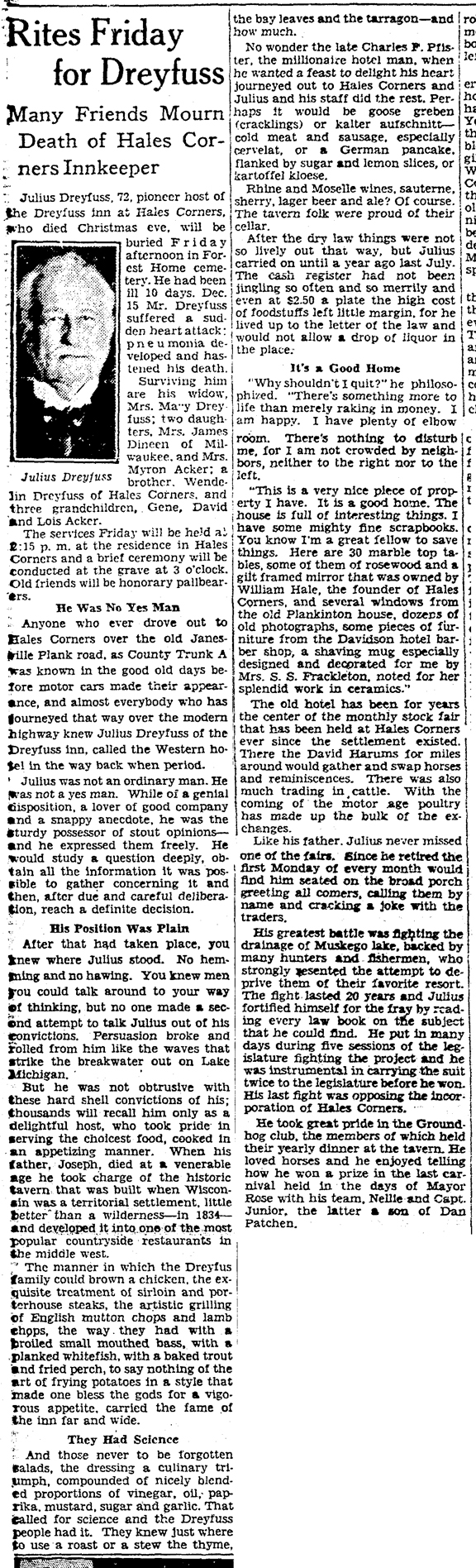 1929 Dec 26 DREYFUSS Julius OBIT Milwaukee_Journal_Sentinel