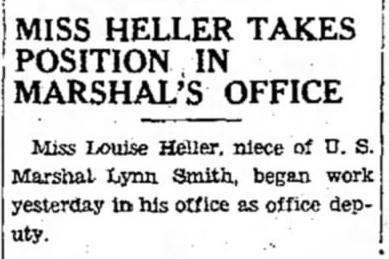 1931 Oct 2 HELLER Mary Louise TAKES OFFICE DEPUTY POSITION Fairbanks Daily News-Miner AL