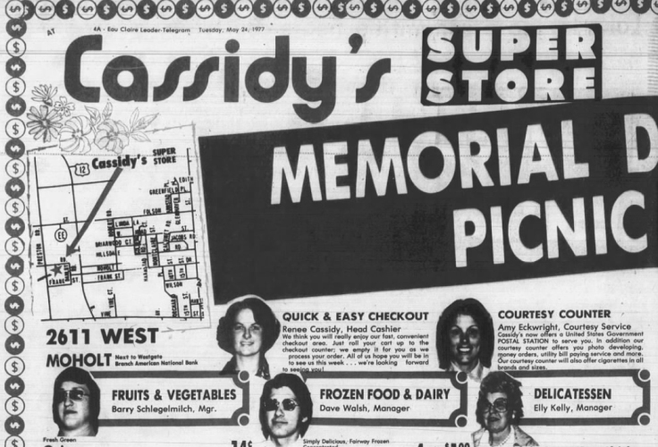 1977 May 24 CASSIDYS SUPER STORE Leader Telegram Eau Claire WI
