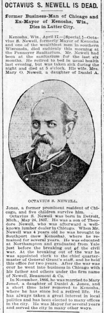 1900 apr 18 newell octavius obit chicago tribune il