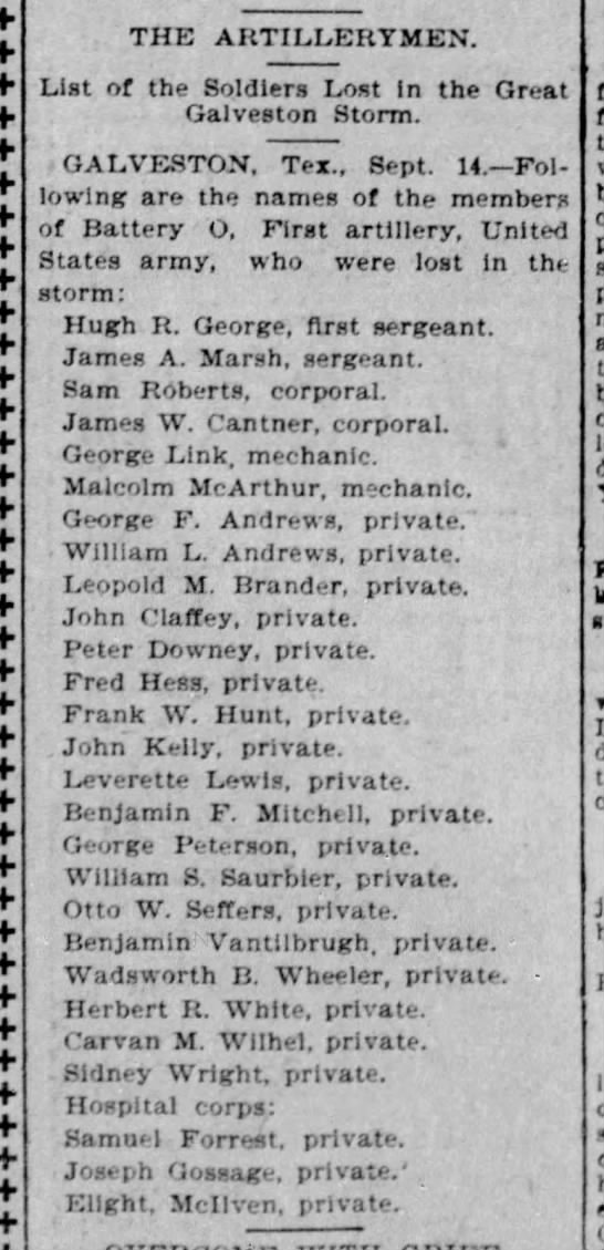1900 sep 15 lewis leveritt lost in storm austin american statesman austin tx