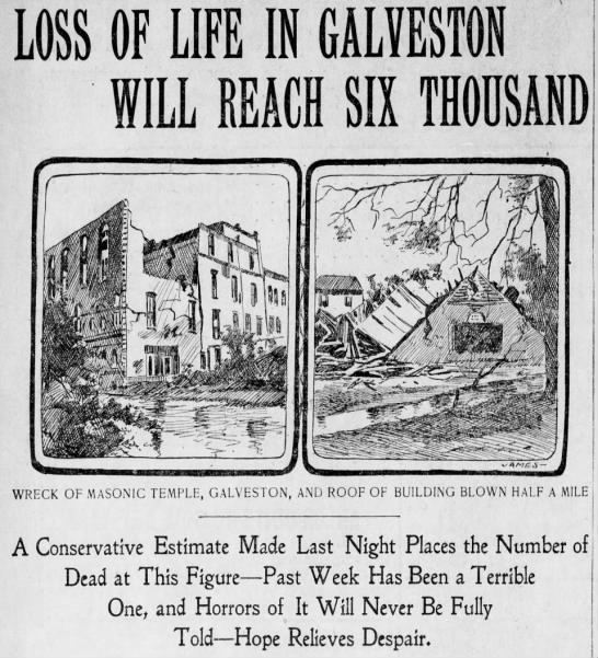 1900 sep 16 loss of life to reach six thousand the times philadelphia pa