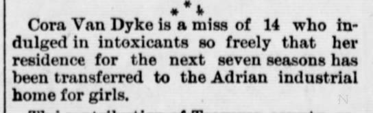 1892 Dec 23 ADRIAN HOME Owosso Times MI