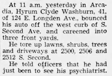1954 Oct 3 WASHBURN Hyrum Clyde AUTO ACCIDENT Pasadena Independent CA