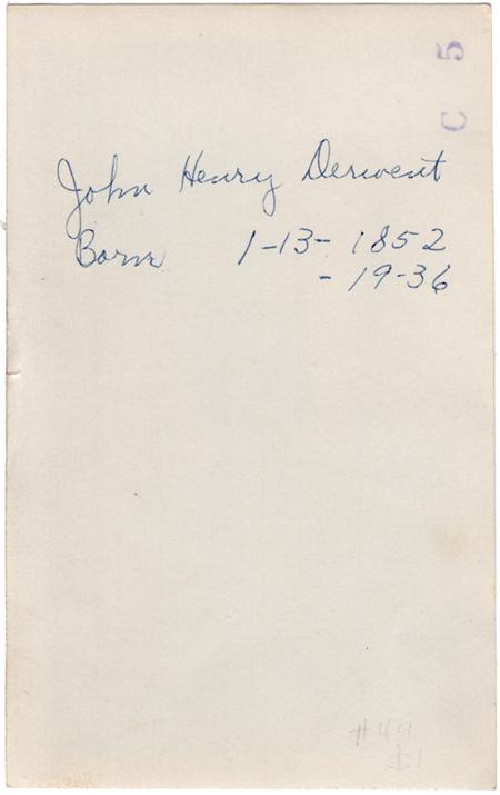 bDERVENT John Henry BACK