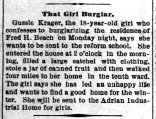1893 Dec 6 ADRIAN HOME The Times Herald Port Huron MI