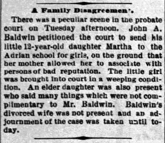 1893 Mar 29 BALDWIN Martha AHfG The Times Herald Port Huron MI