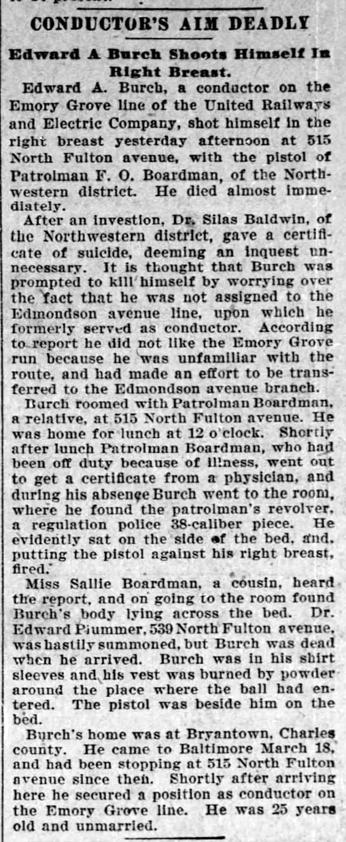 b1902 Mar 25 BURCH Edward Ashby SUICIDE The Baltimore Sun MD