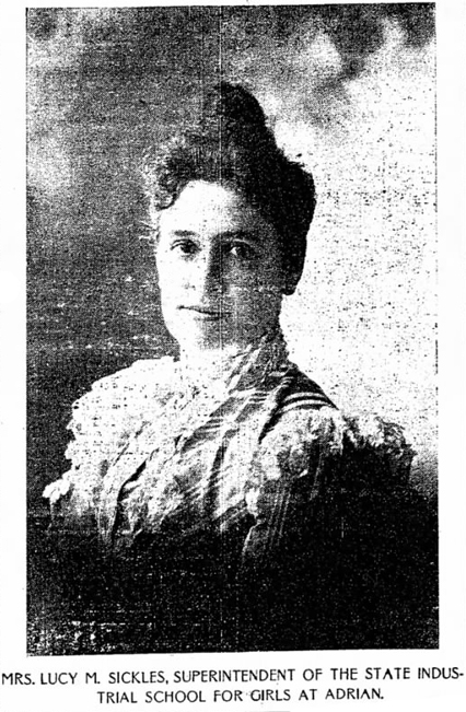 SICKLES Lucy ADRIAN HOME SUPERINTENDENT 1899 Jul 3 Detroit Free Press